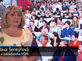 Rektorka VŠFS Bohuslava Šenkýřová v Rozstřelu